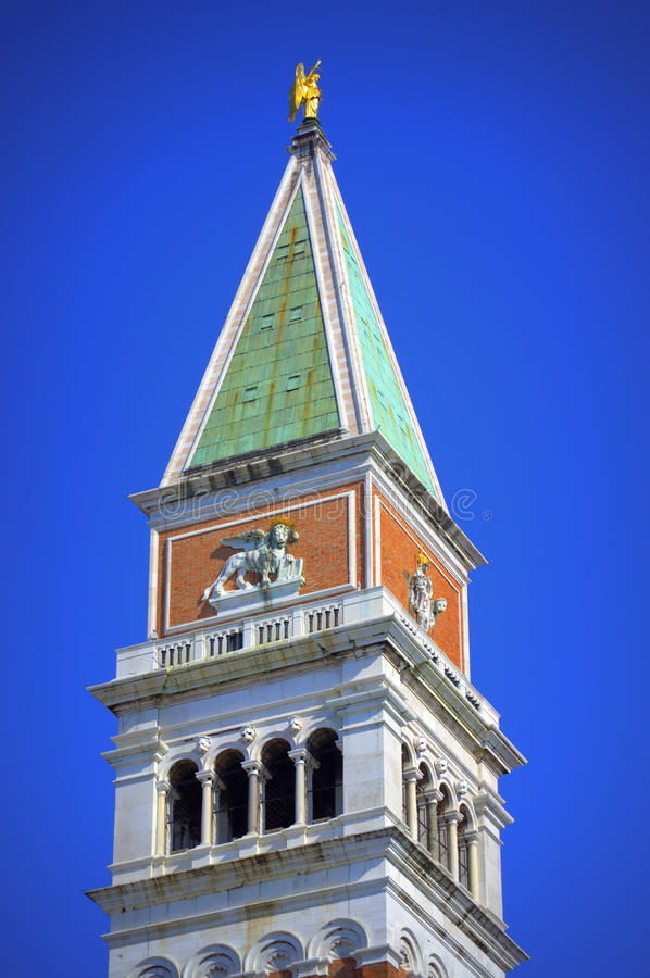 Campanile bell tower top view Venice stock photos