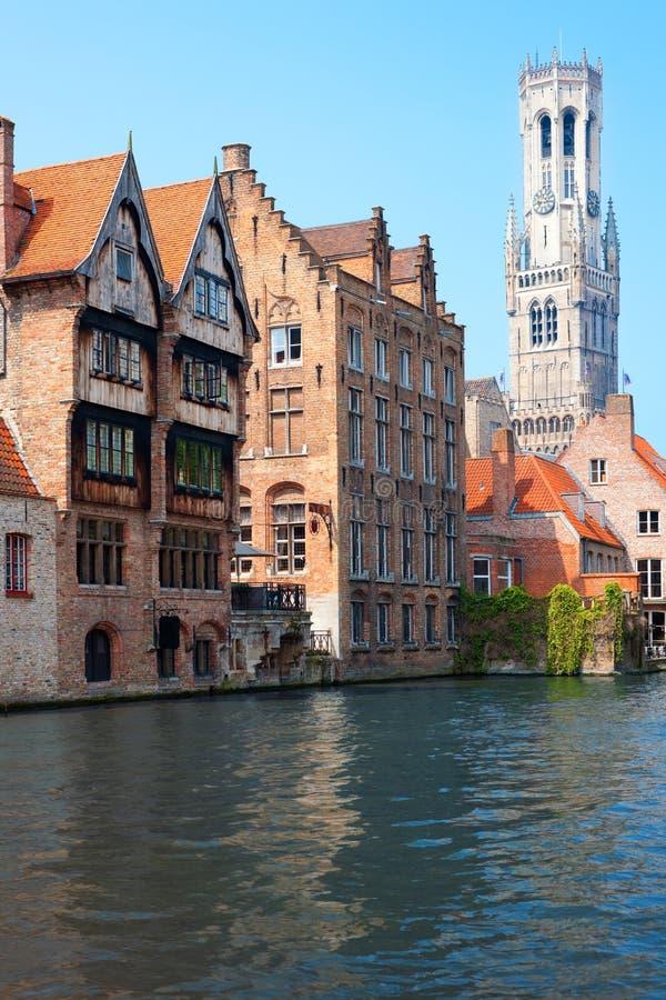 Campanile a Bruges fotografie stock libere da diritti