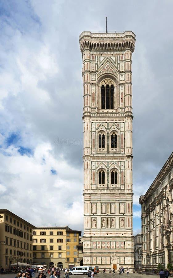 Campanile de Giotto's dans Piazza Del Duomo, Florence, May2016 photographie stock
