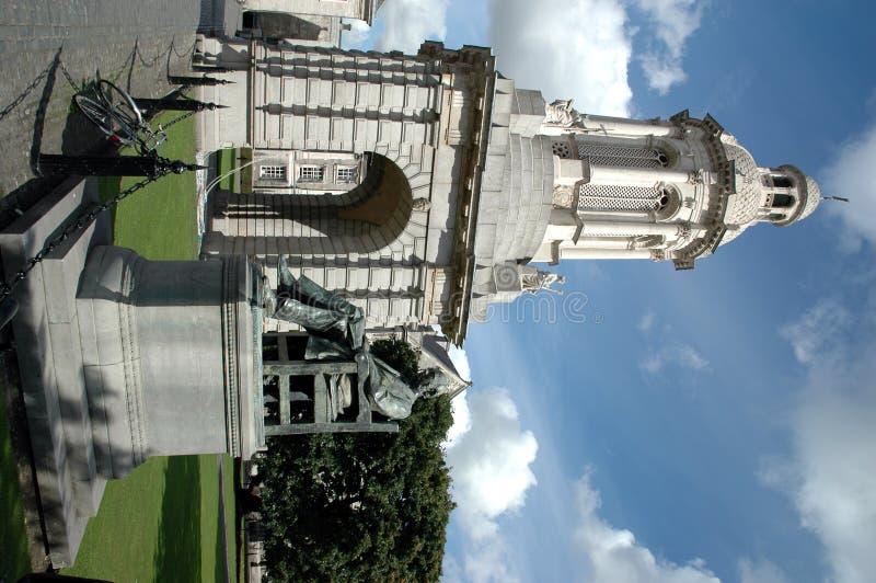 Campanile, de Universiteit van de Drievuldigheid, Dublin stock afbeeldingen
