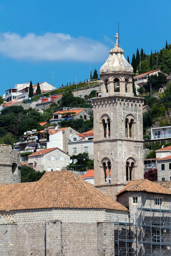 Campanile del monastero domenicano in Ragusa, CROAZIA fotografia stock