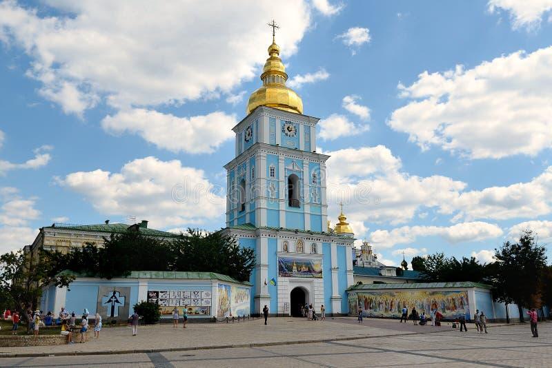 Campanile del monastero Dorato-a cupola di St Michael, Kiev fotografia stock libera da diritti