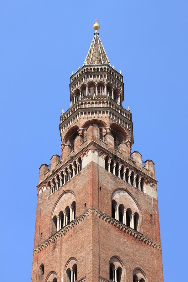 Campanile della cattedrale di Cremona fotografia stock libera da diritti