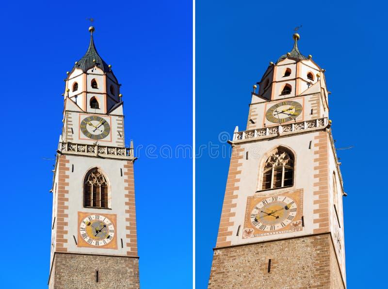 Campanile Della Cattedrale Di Merano - L Italia Fotografia Stock