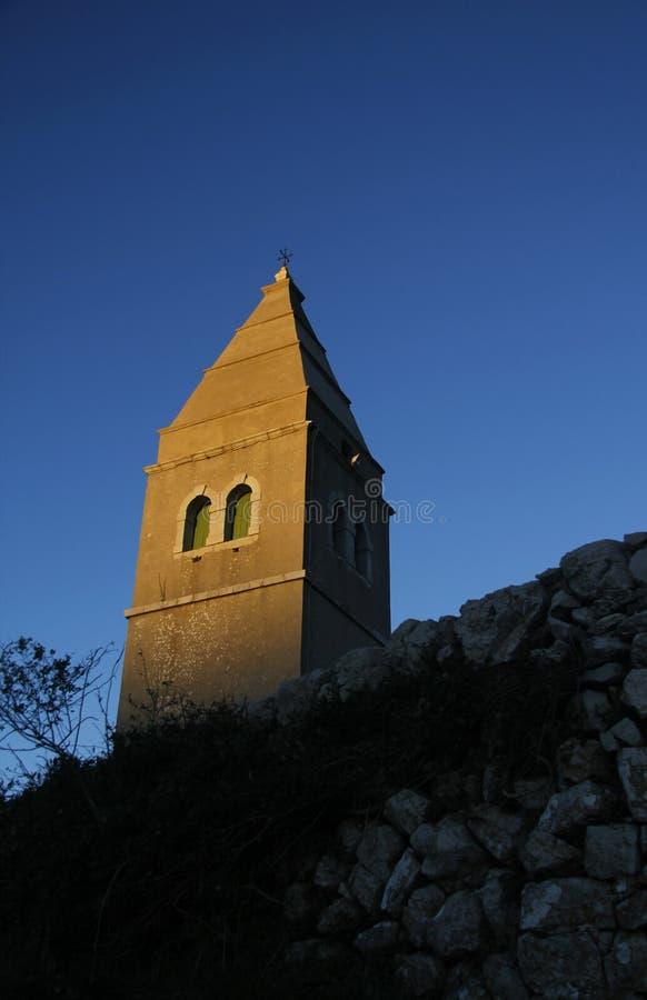Campanile della chiesa immagini stock