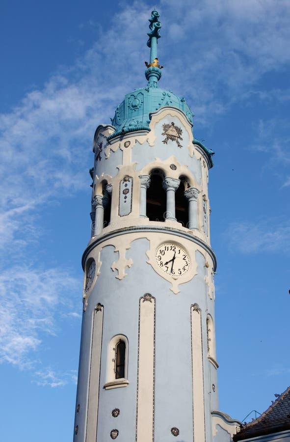 Campanile della chiesa della st Elisabeth, Bratislava fotografia stock