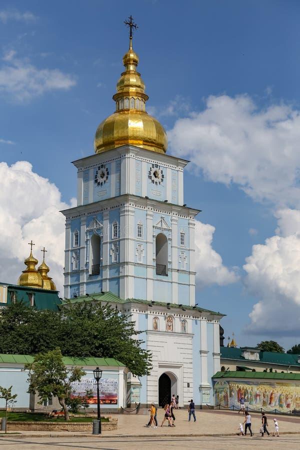 Campanile della st Michael Golden Domed Monastery a Kiev, Ukrain fotografia stock