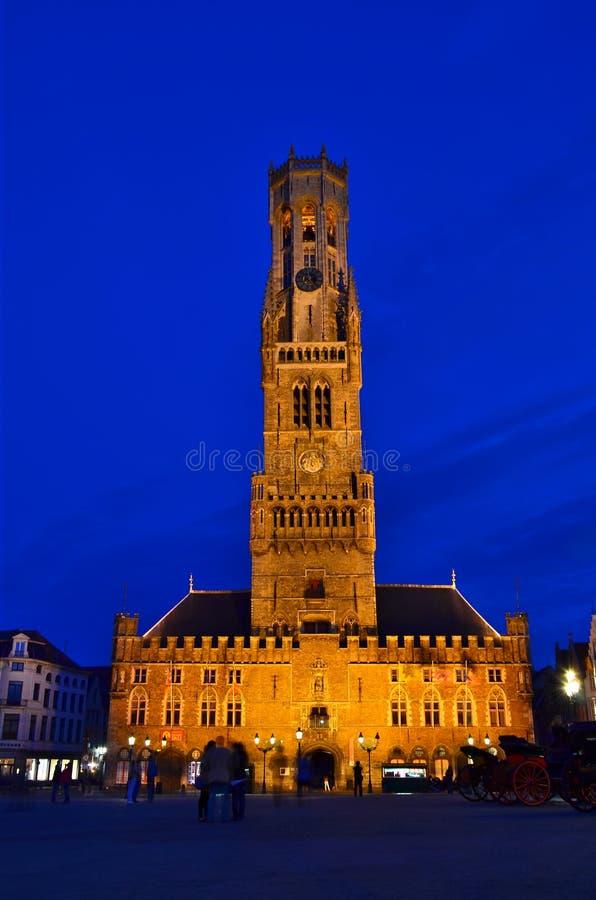 Campanile di Bruges fotografia stock