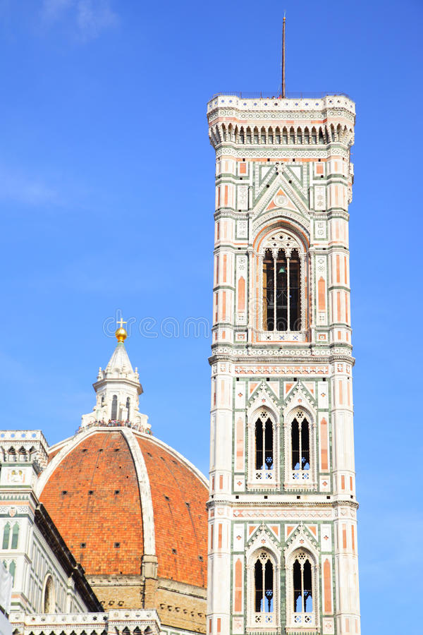 Campanile di Giotto and Duomo royalty free stock photography