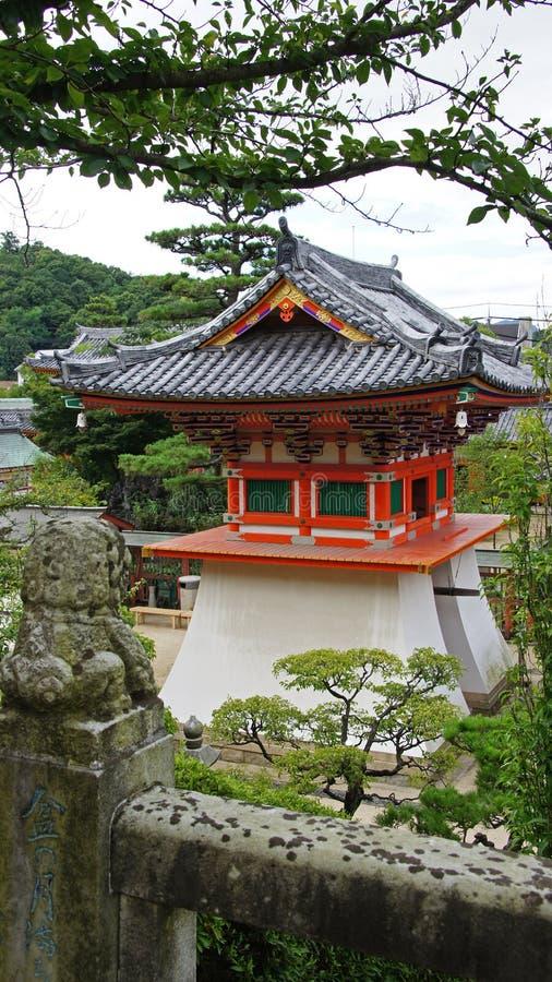 Campanile di Kosanji Temple nel Giappone immagini stock