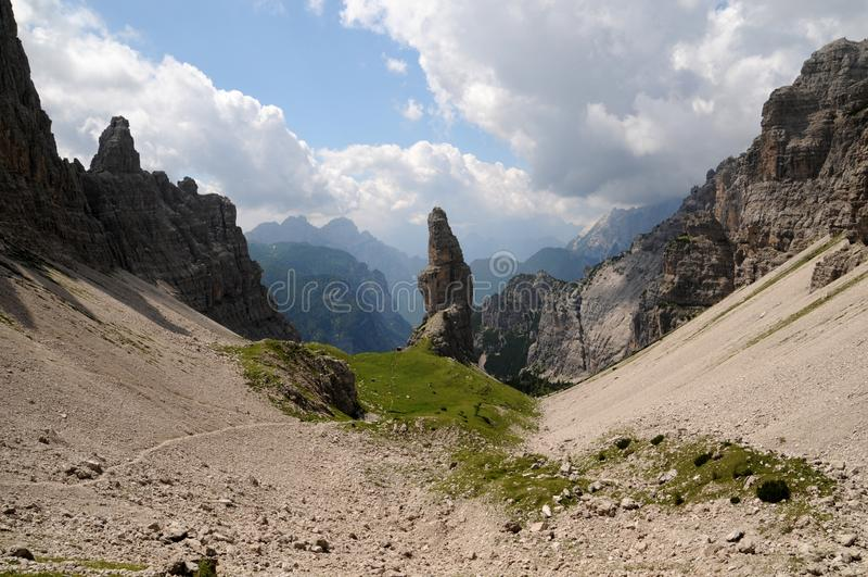 Campanile Di Val Montanaia Dolomiti Friulane, Italië royalty-vrije stock foto's