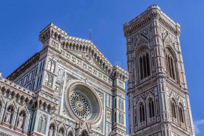 Campanile e duomo - Firenze - Italia fotografie stock libere da diritti