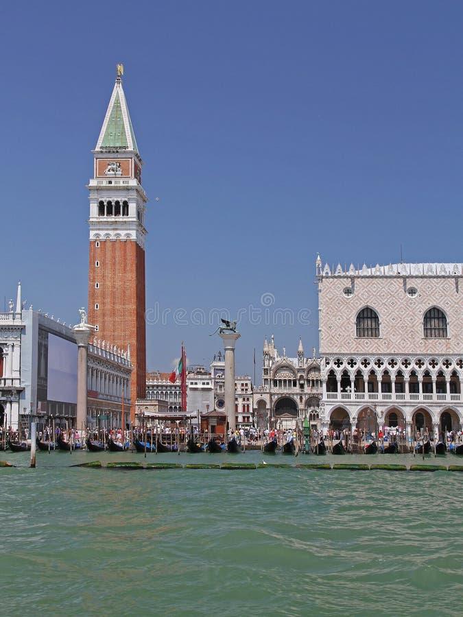 Campanile Italië van Venetië stock afbeeldingen