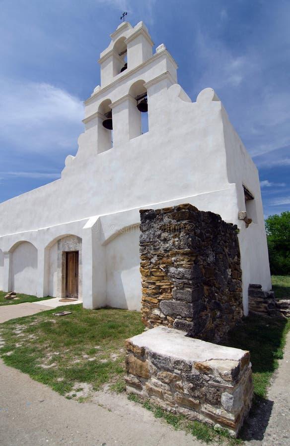 Campanile nella missione San Juan Capistrano, vicino a San Antonio immagine stock libera da diritti