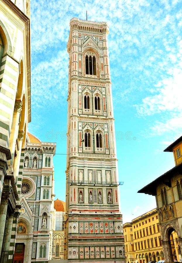 Campanile van Giotto, Florence, Italië stock foto