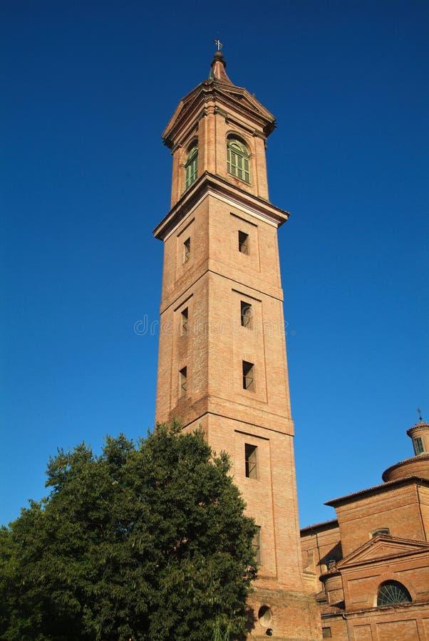 Campanile van San mamante medicina Bologna stock fotografie