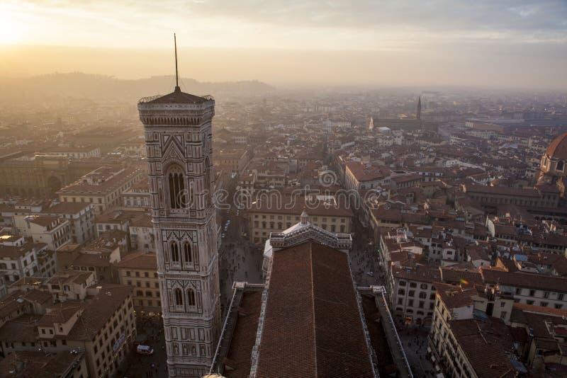 Campaniletorn, Florence Italy arkivfoton