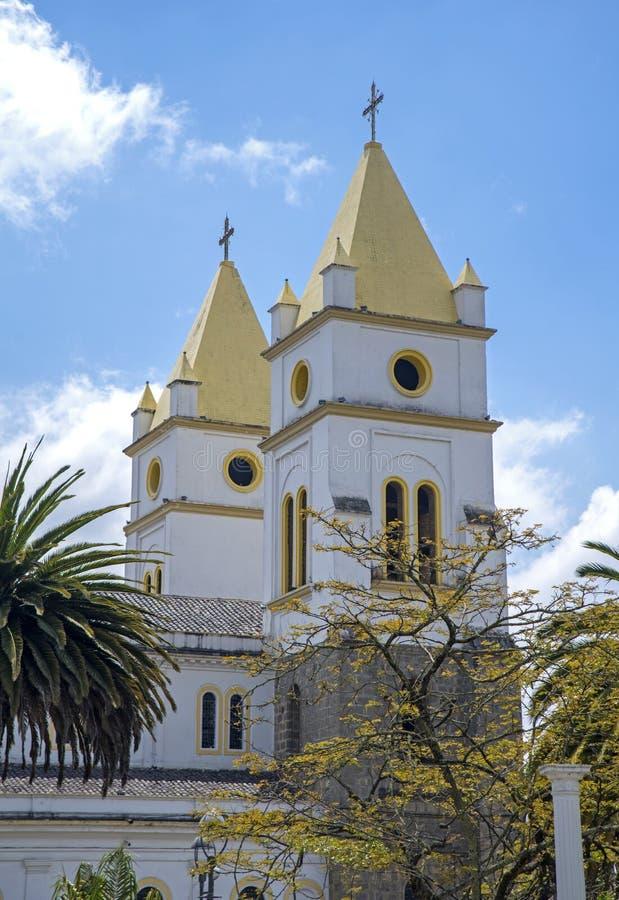 Campanili della cattedrale di Guaranda immagini stock libere da diritti