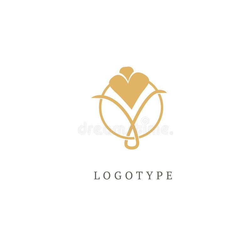 Campanula logo. Wedding floral icon. Luxury retro emblem. Cosmetics, Spa, Beauty salon, Decoration, Boutique vector logo. stock images