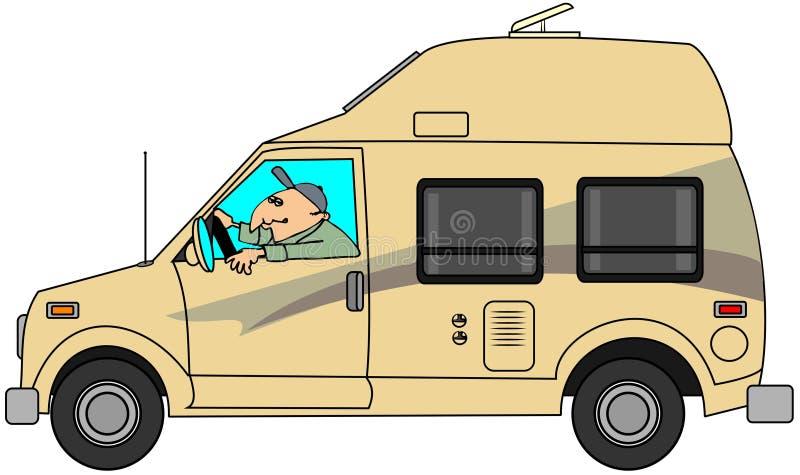 Campareskåpbil royaltyfri illustrationer