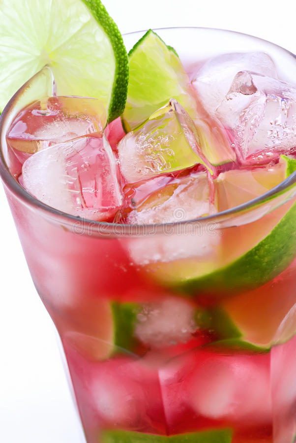Free Campari Tonic With Lime Stock Images - 9844354