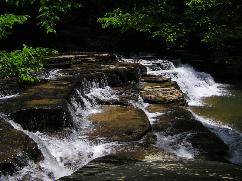 Campbell creek obóz falls parkują stanu Virginia zachód fotografia royalty free