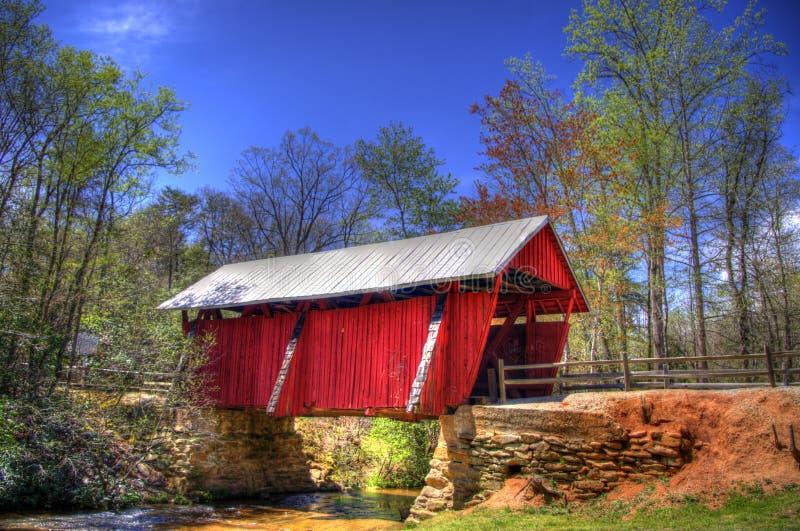 Campbell ` s Zakrywał most, Greenville, Południowa Karolina zdjęcia stock