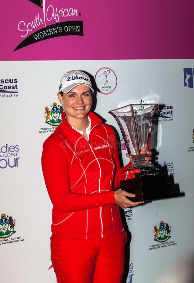 Campeão aberto 2012 das senhoras do golfe Masson SA de Caroline fotos de stock