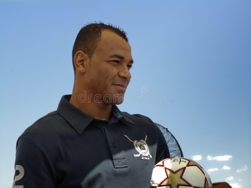 Campeão Cafu do copo de mundo do futebol fotografia de stock