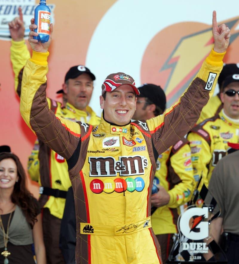 Campeão de Kyle Busch NASCAR fotos de stock royalty free
