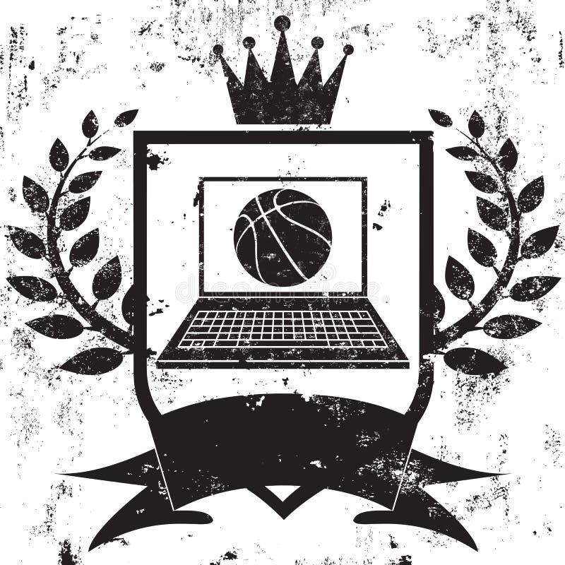 Campeão do basquetebol da fantasia ilustração stock