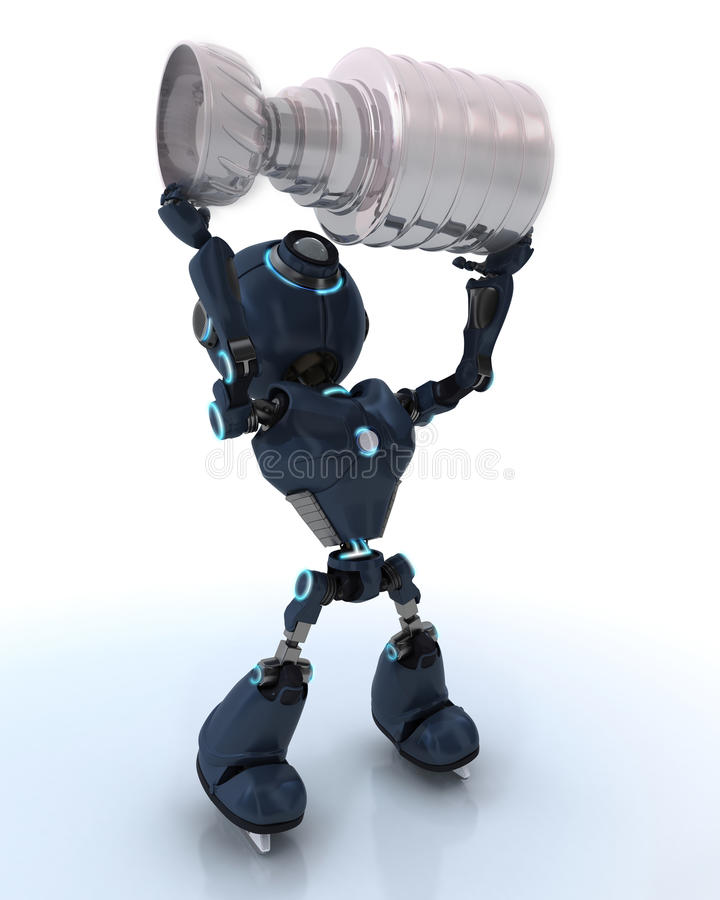 Campeão do hóquei em gelo de Android ilustração stock