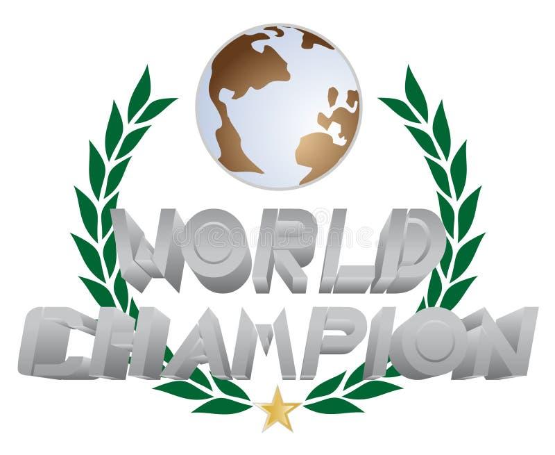 Campeão do mundo ilustração do vetor