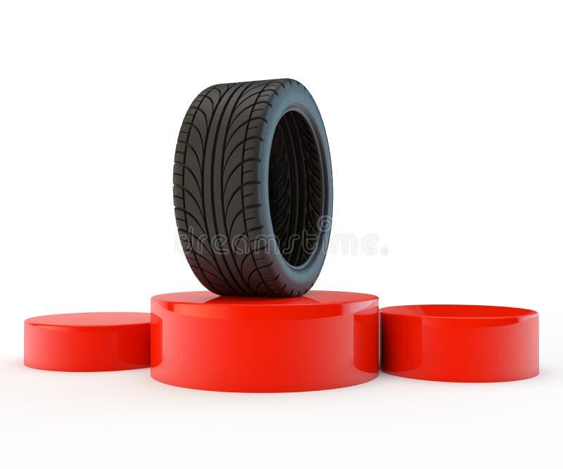 Campeão do pneu ilustração stock