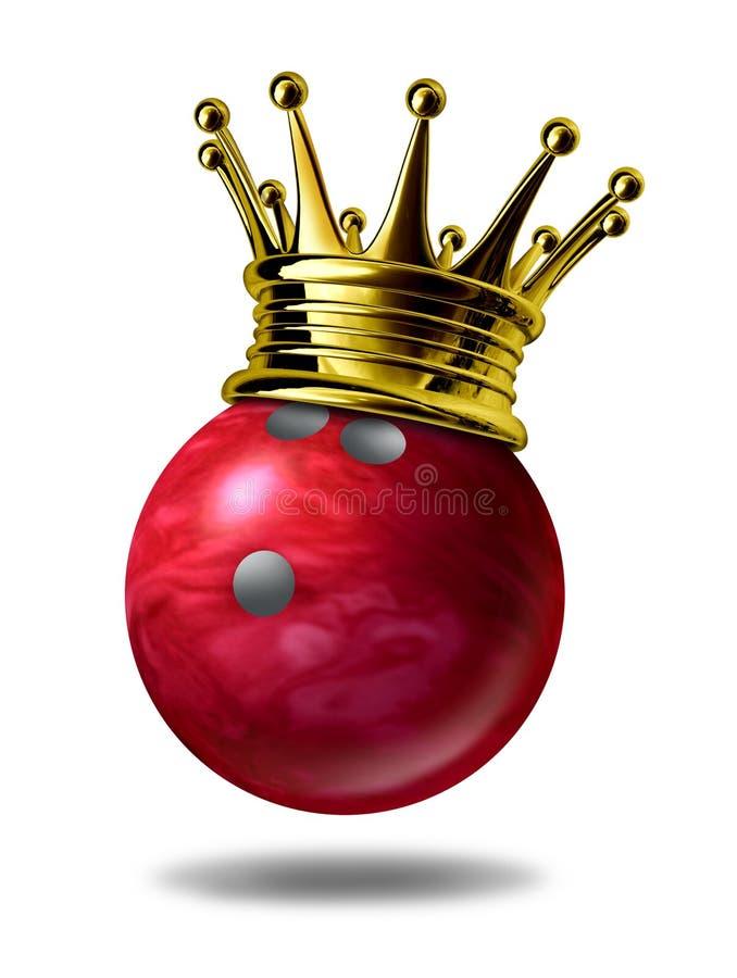 Campeão do rei do bowling ilustração stock
