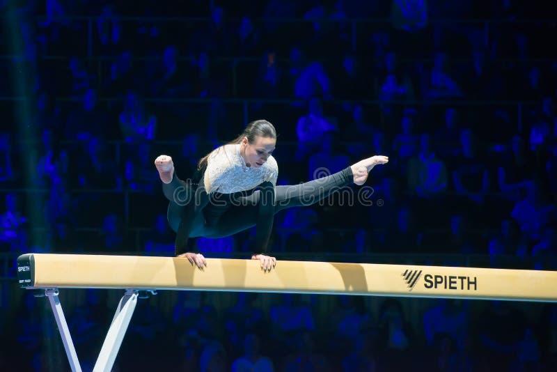 Campeão olímpico Catalina Ponor imagens de stock royalty free