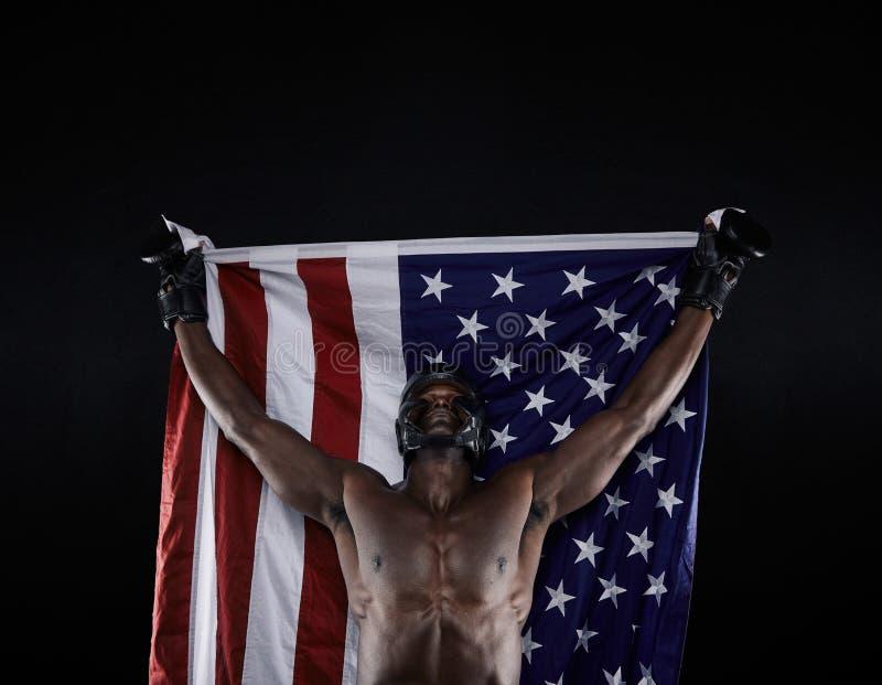 Campeón americano del boxeo imagen de archivo