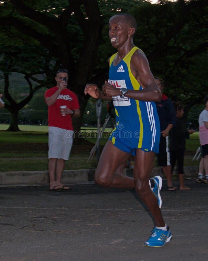 Campeón del maratón de Honolulu imágenes de archivo libres de regalías