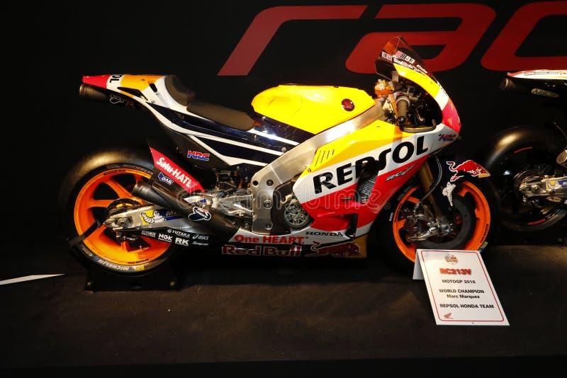 Campeón 2016 del mundo del gp del moto de Honda imagen de archivo