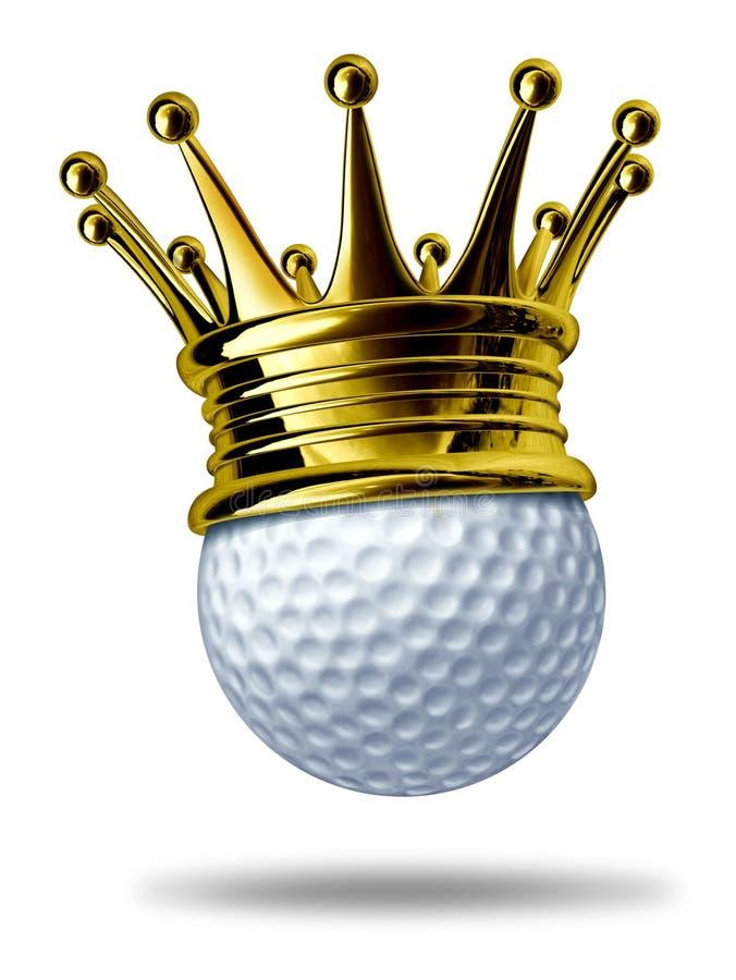 Campeón del torneo del golf stock de ilustración