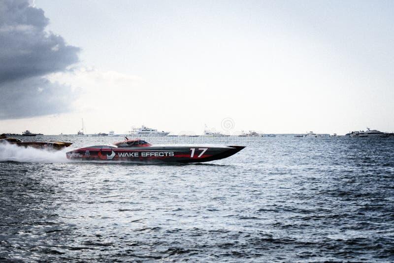 Campeón internacional 2018 de Superboat imagen de archivo