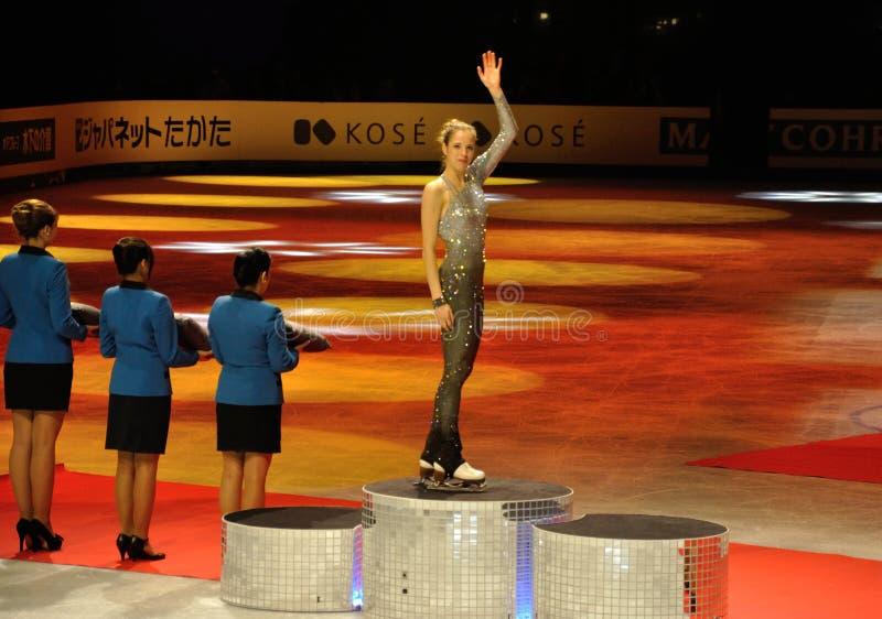 Campeón ISU del mundo del patinaje artístico Carolina 2012 1 fotografía de archivo libre de regalías