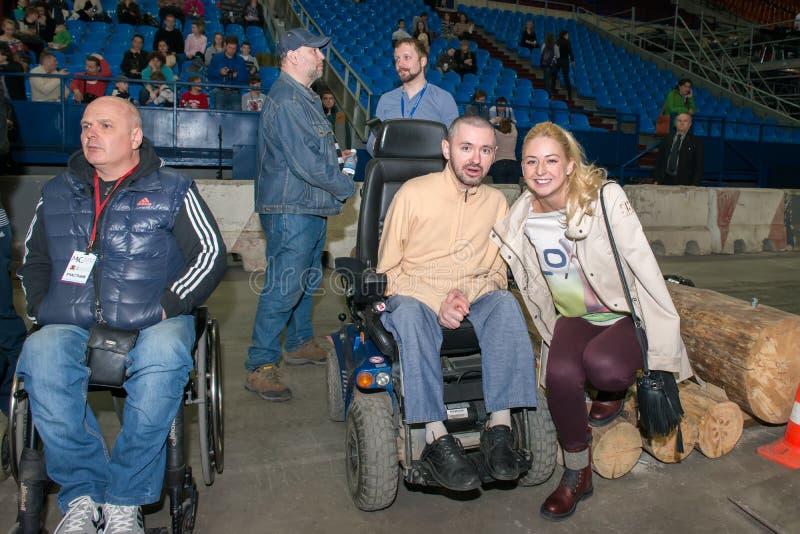 Campeón por dos veces Olesya Vladykina de Paralympic imagenes de archivo