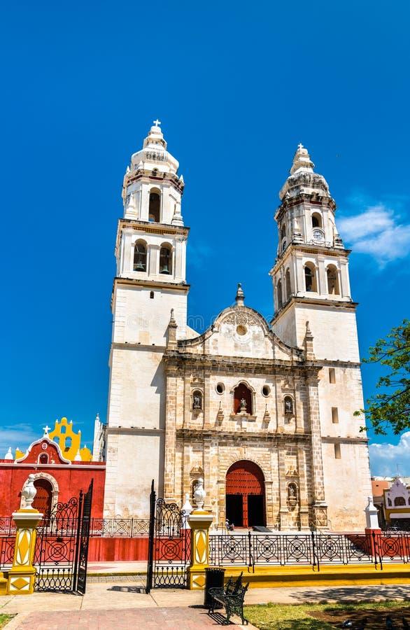 Campeche-Kathedrale in Mexiko stockbild