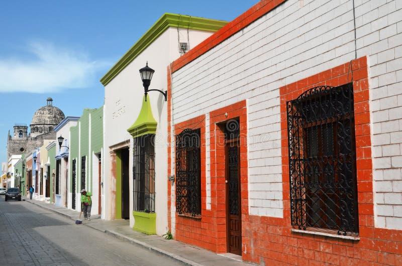 Campeche miasto w Meksyk kolonisty architekturze obrazy royalty free