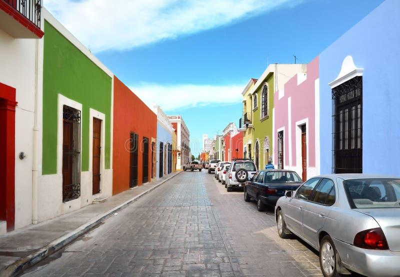 Campeche miasto w Meksyk kolonisty architekturze fotografia stock