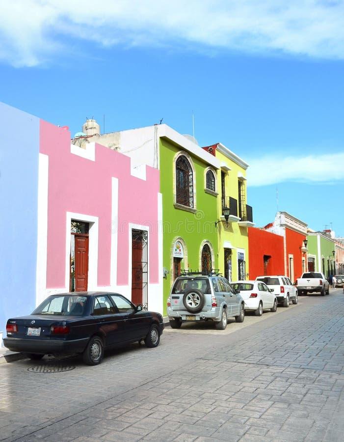 Campeche miasto w Meksyk kolonisty architekturze obraz royalty free