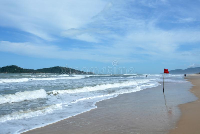 Campeche strand, Florianopolis, Brasilien royaltyfria foton
