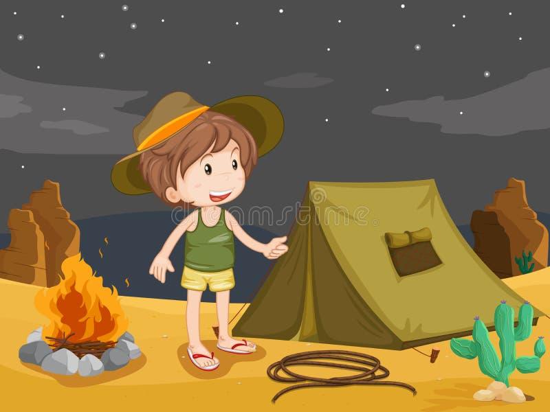 Campeggiatore illustrazione di stock