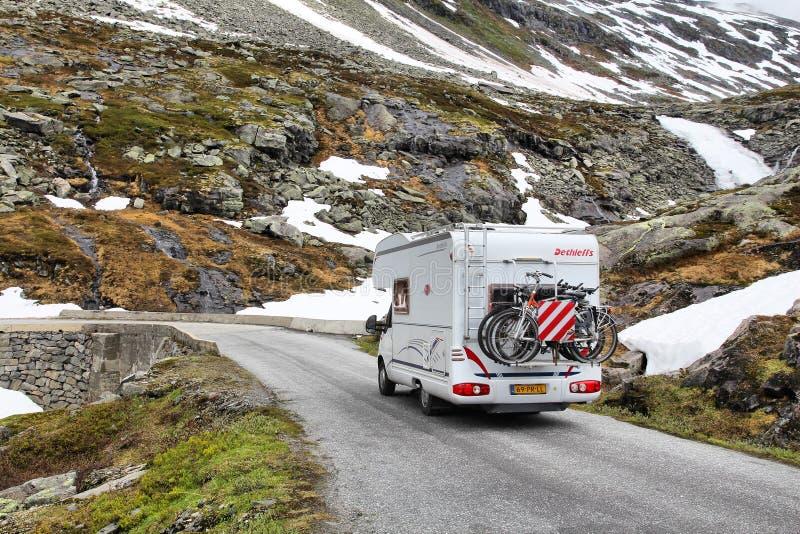 Campeggiatore della Norvegia immagine stock